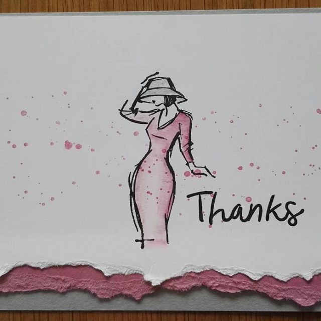 Bedankkaartje bij bestelling Thanks for the inspiration Michelle Last mooivanpapierhellip